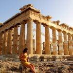 Acropolis Athens Greece Girl Model  - sandyjohnhood / Pixabay