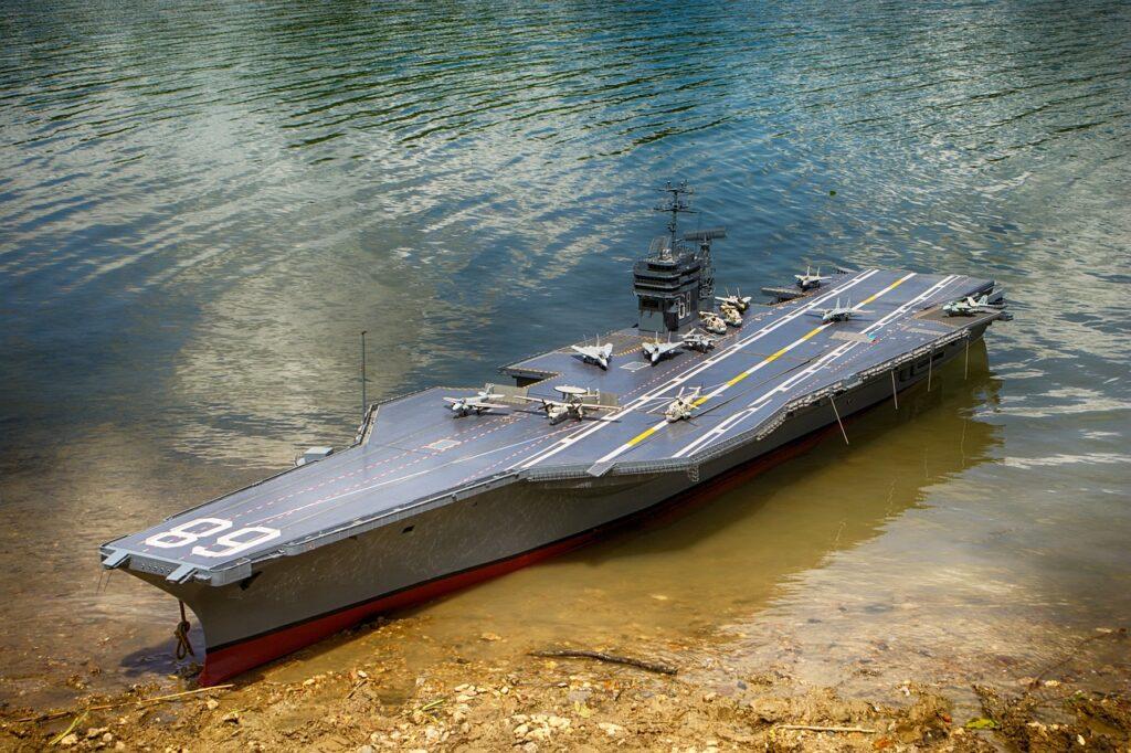 Aircraft Carrier Model Lake Water  - andrenikon45 / Pixabay