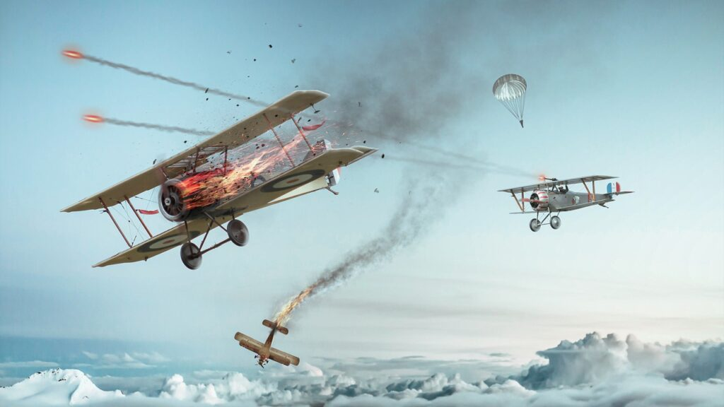 Aircraft Double Decker Air Combat  - _freakwave_ / Pixabay