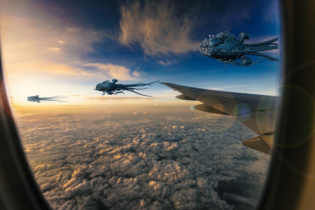 Alien Ufo Spaceships Fantasy Sky  - Sinousxl / Pixabay