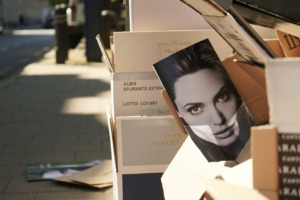 Angelina Jolie Sidewalk Cardboard  - MarcVanDijck / Pixabay