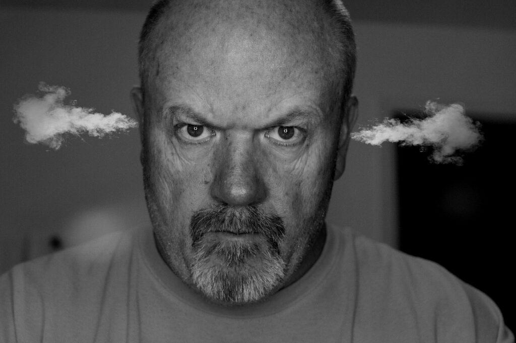 Angry Man Steam Ears Smoke Anger  - Tumisu / Pixabay