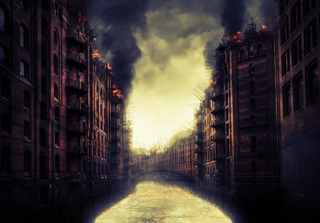 Apocalypse Burning Buildings City  - freepsdgraphics / Pixabay