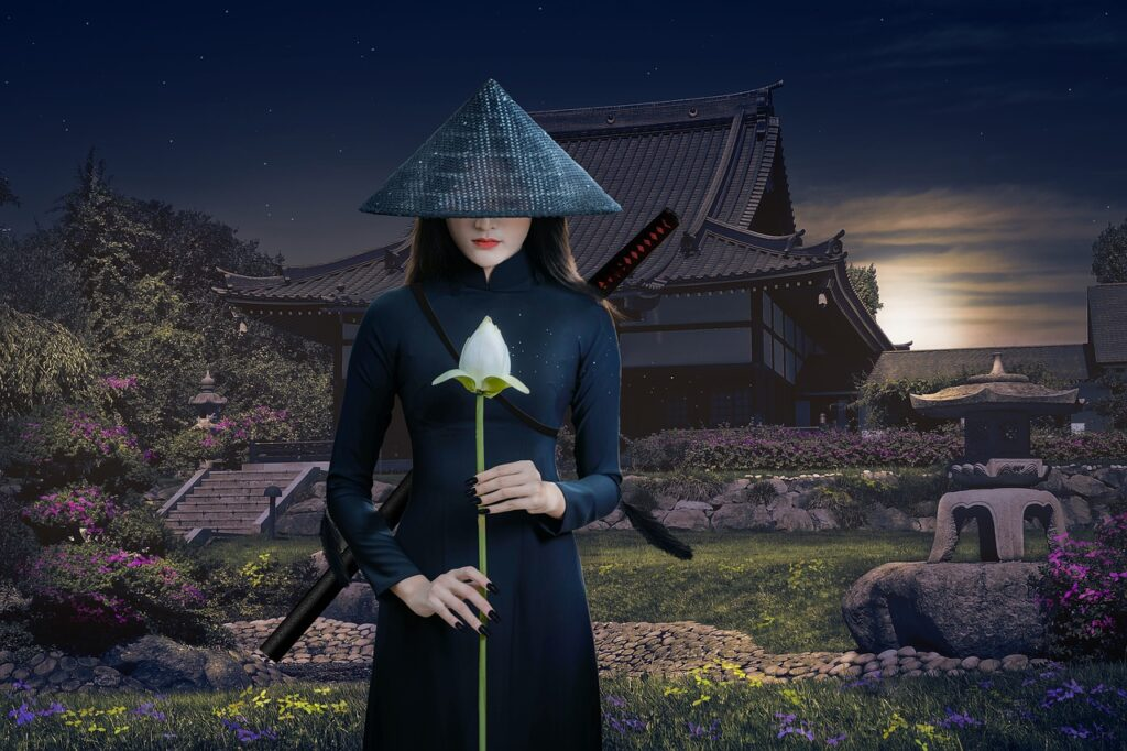 Asia Warrior Woman Samurai Katana  - gene1970 / Pixabay