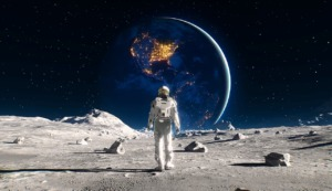 Astronaut Space Moon Moon Surface  - ParallelVision / Pixabay