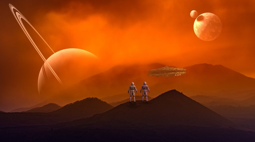 Astronaut Space Spaceship Ufo  - Ben5339 / Pixabay