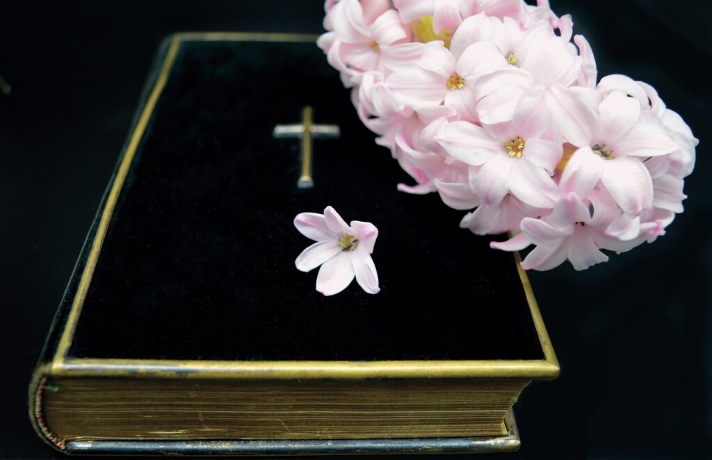Book Bible Hyacinth Believe Cross  - neelam279 / Pixabay