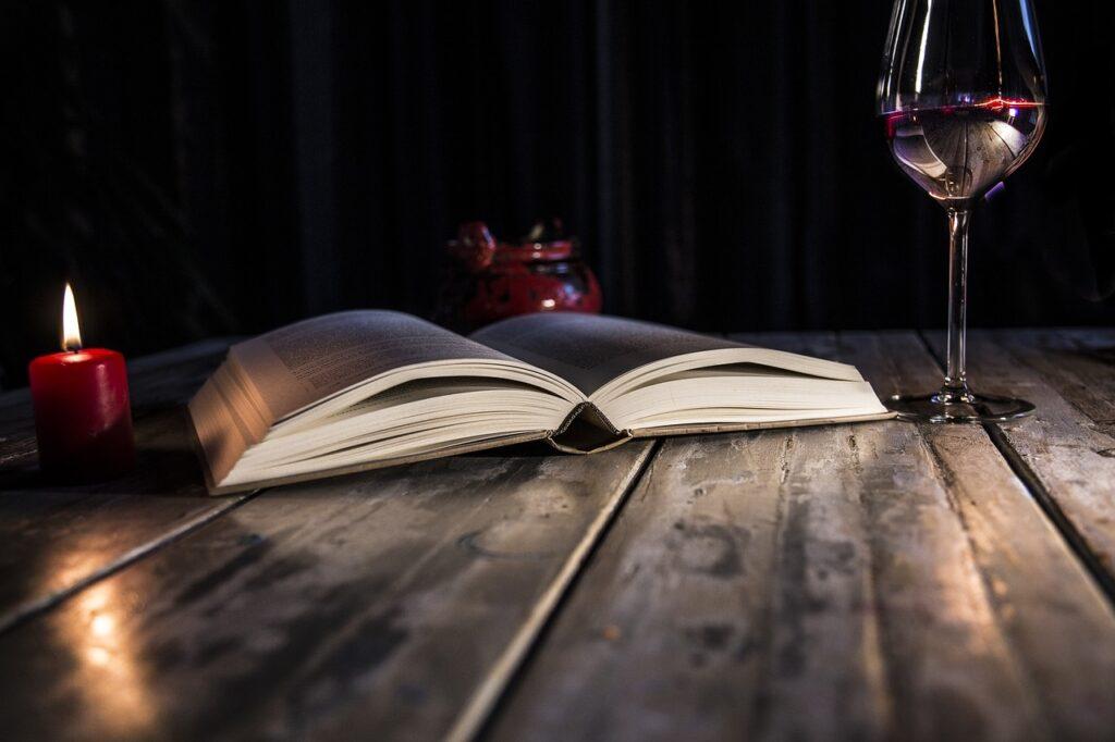 Book Candles Wine Glass  - giselaatje / Pixabay