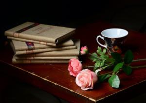 Books Roses Flowers Mug Cup Table  - JerzyGorecki / Pixabay