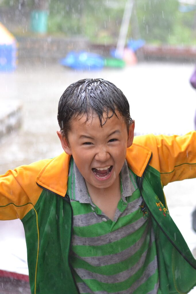 Boy Child Rain Wet Excitement  - bhuwanpurohit / Pixabay