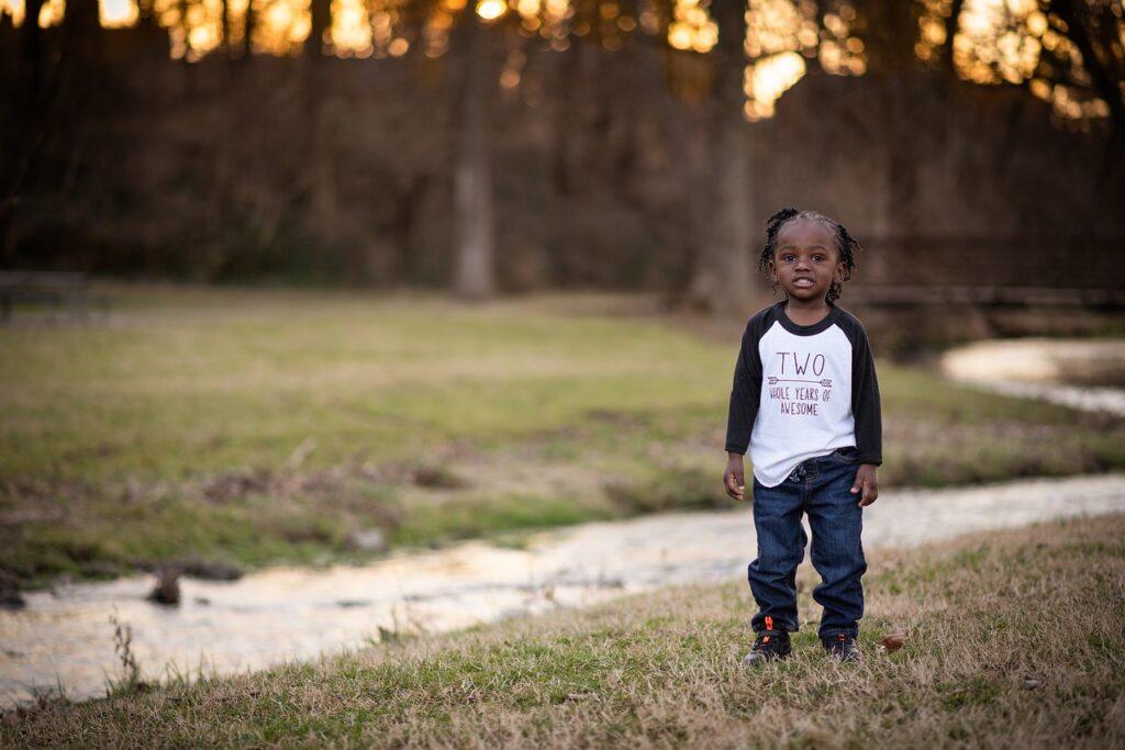 Boy Child Stream Sunset  - theproofphotography / Pixabay