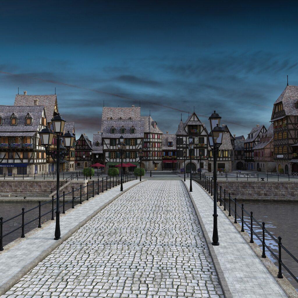 Bridge Fachwerkhaus Townscape  - anaterate / Pixabay