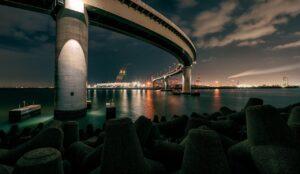 Bridge Sea Night Crane Port  - Kanenori / Pixabay