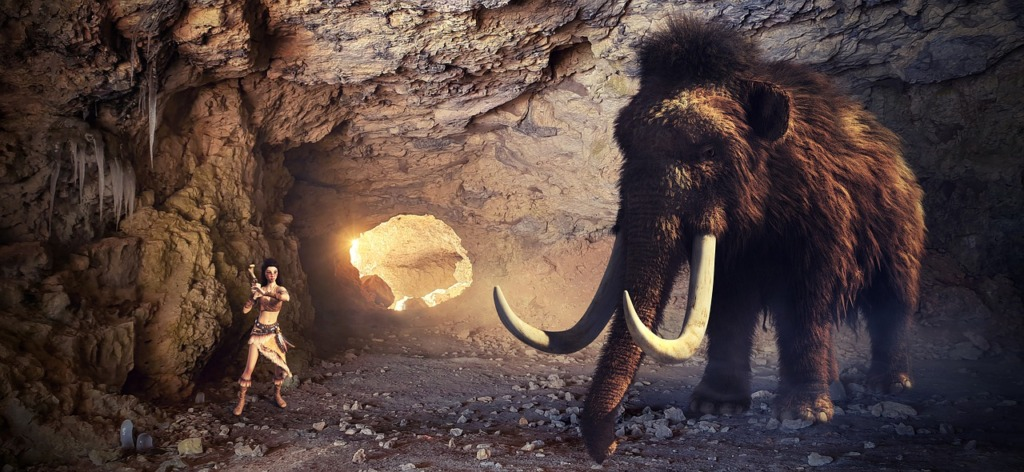 Cave Mammoth Human Story Light  - KELLEPICS / Pixabay