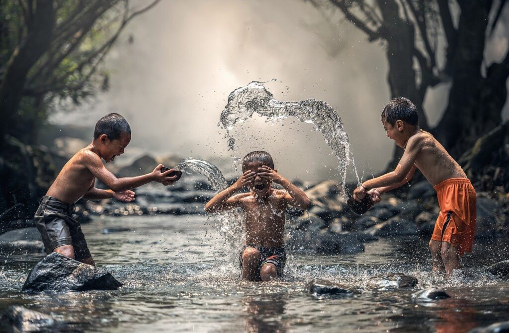 Children River Water The Bath  - sasint / Pixabay