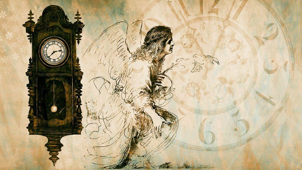 Clock Angel Vintage Time  - chenspec / Pixabay