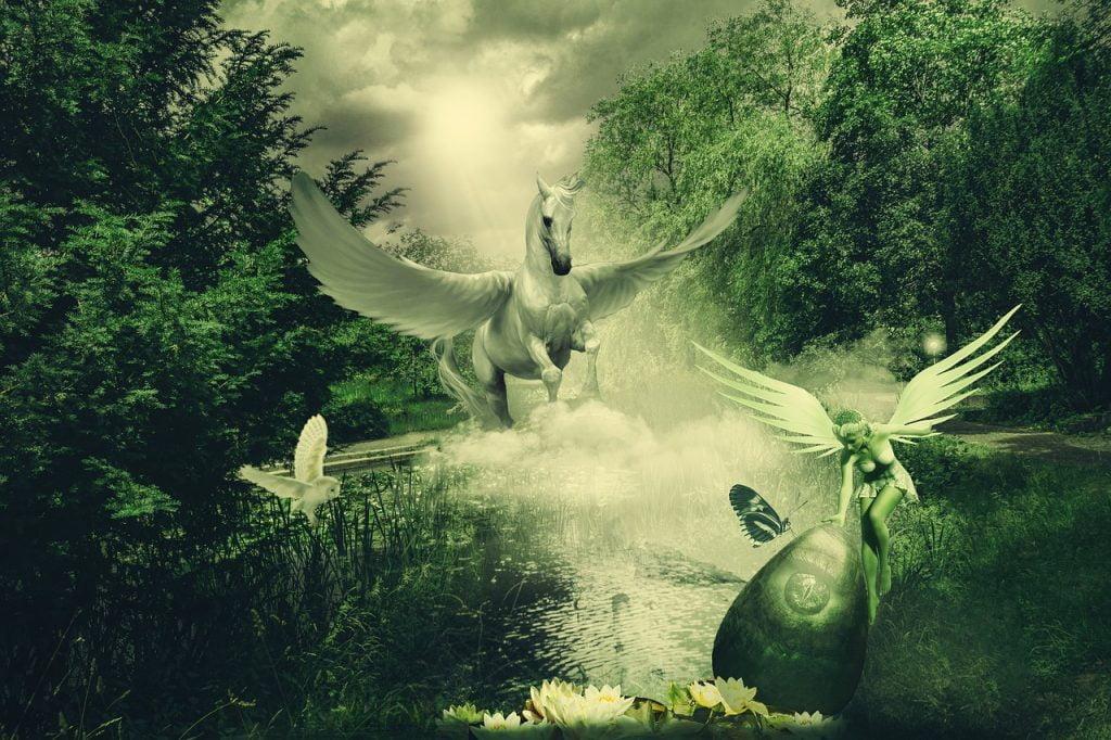 Composing Pegasus Horse Elf  - lassaffa / Pixabay