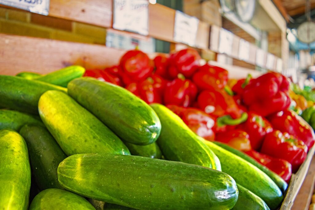 Cucumbers Peppers Red Peppers Spicy  - royharryman / Pixabay