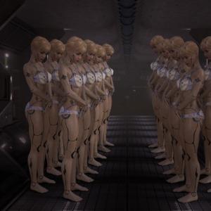 Cyborg Corridor Spaceship Formation  - anaterate / Pixabay
