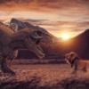 Dinosaur Sunset Lion Battle Animal  - yisus_arts / Pixabay