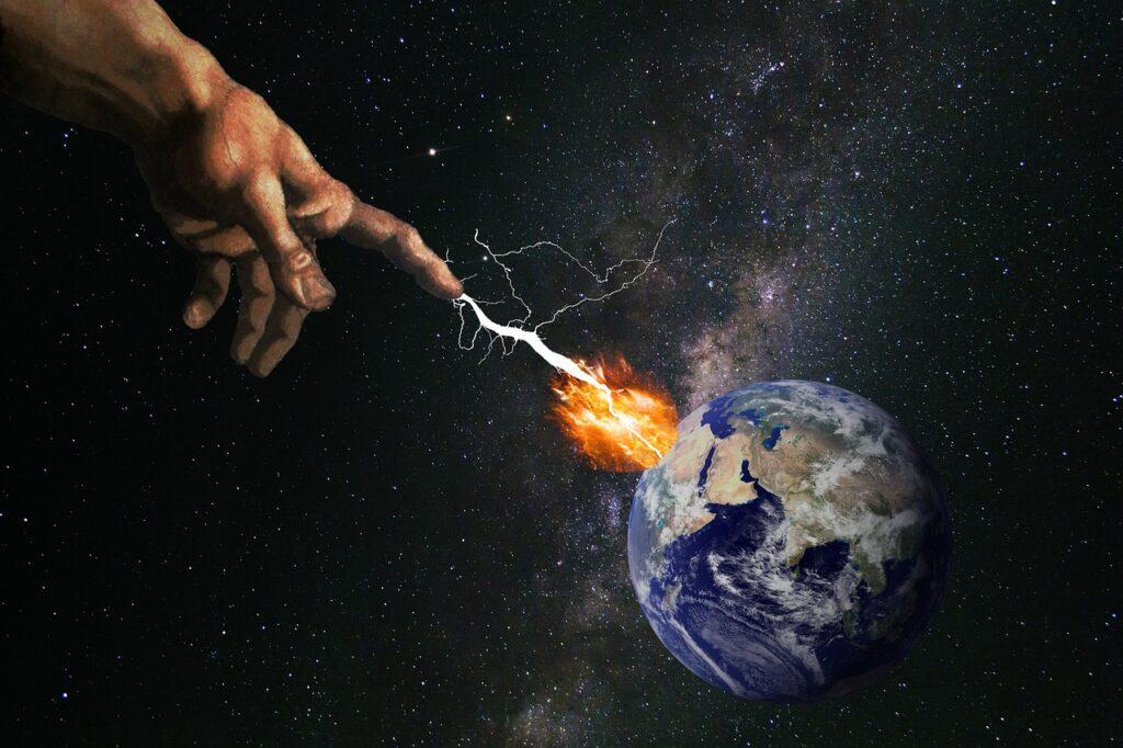 Earth God Lightning Explosion Fire  - flutie8211 / Pixabay