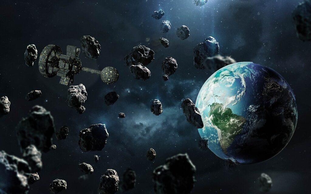 Earth Spaceship Asteroids  - Willgard / Pixabay