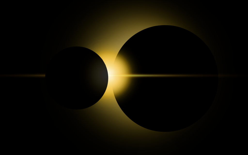 Eclipse Space Sci Fi Wallpaper  - ParallelVision / Pixabay