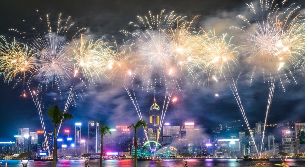 Fireworks New Year City Buildings  - IAmAamirDaniyal / Pixabay