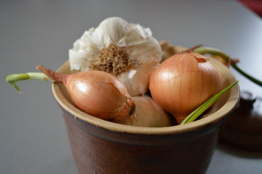 Food Onions Garlic Vegetables  - LMpolepy / Pixabay