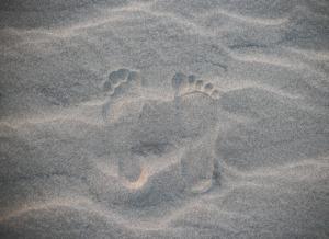 Footprints Sand Beach Steps  - chidung2212 / Pixabay