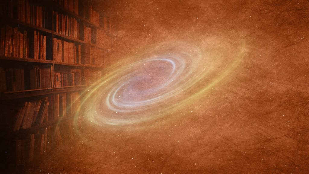 Galaxy Books Stars Space Cosmic  - chenspec / Pixabay