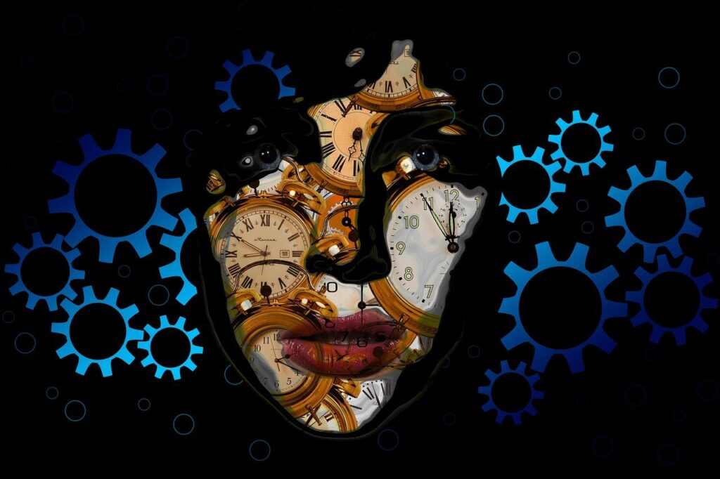 Gears Woman Clock Time Head Face  - geralt / Pixabay