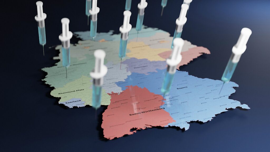 Germany Map Vaccination Inject  - torstensimon / Pixabay