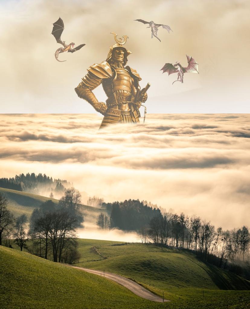 Giant Samurai Fantasy Warrior  - Artie_Navarre / Pixabay