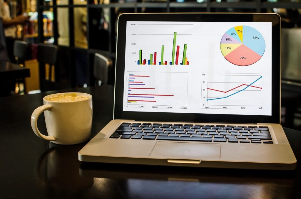 Graphs Laptop Coffee Display  - Candid_Shots / Pixabay