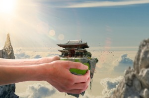 Hands Holding Japanese Temple  - Kenneth_Garay / Pixabay