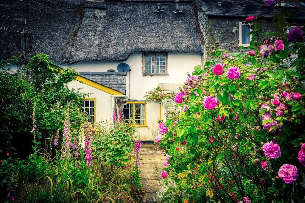 House Garden Front Yard Flowers  - fietzfotos / Pixabay