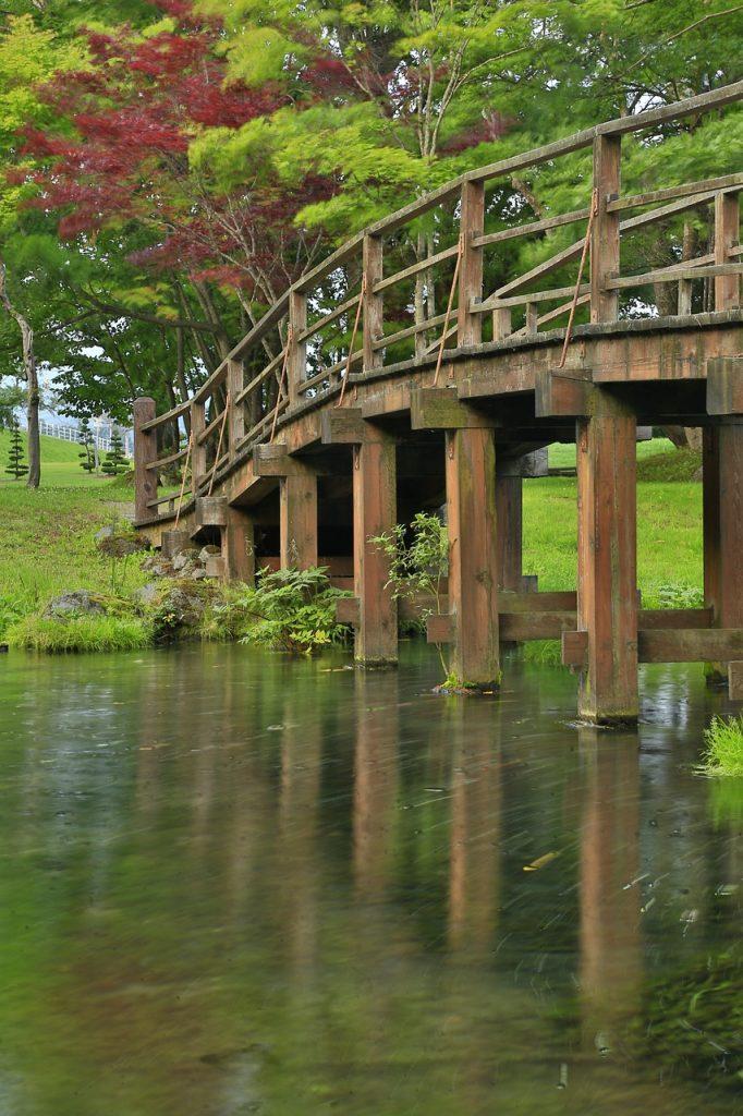 Japan Bridge Parkland Trees Autumn  - marinacath / Pixabay