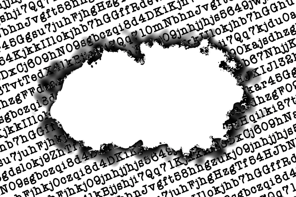 Letters Hole Burned Code Abstract  - geralt / Pixabay