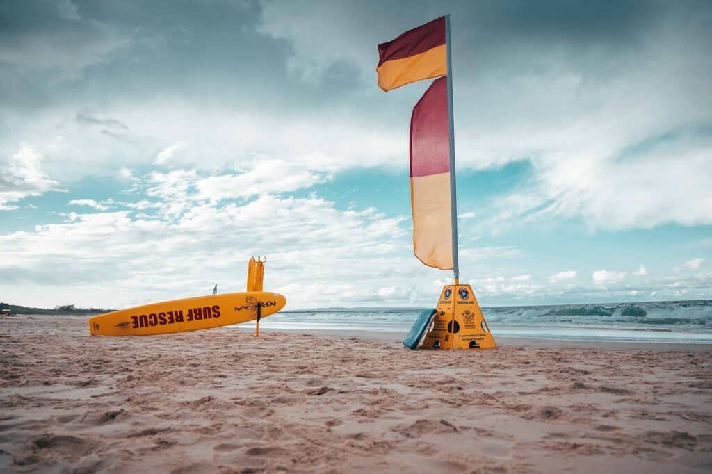 Lifesaving Seashore Beach Surf Sea  - jamorealmedia / Pixabay