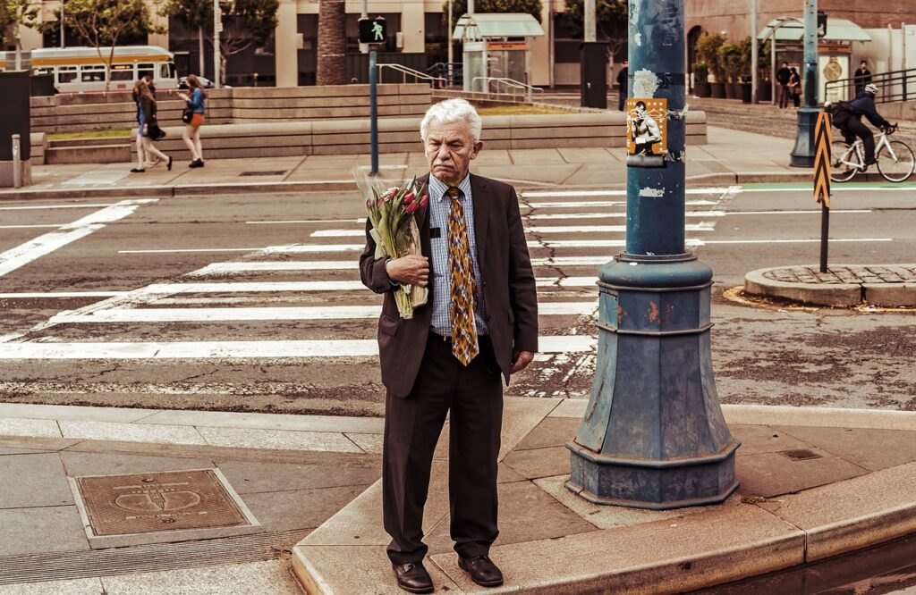 Man Bouquet Flowers Person Elderly  - Candid_Shots / Pixabay