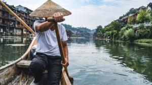 Man Fisher River Row Rowing  - himuraseta / Pixabay