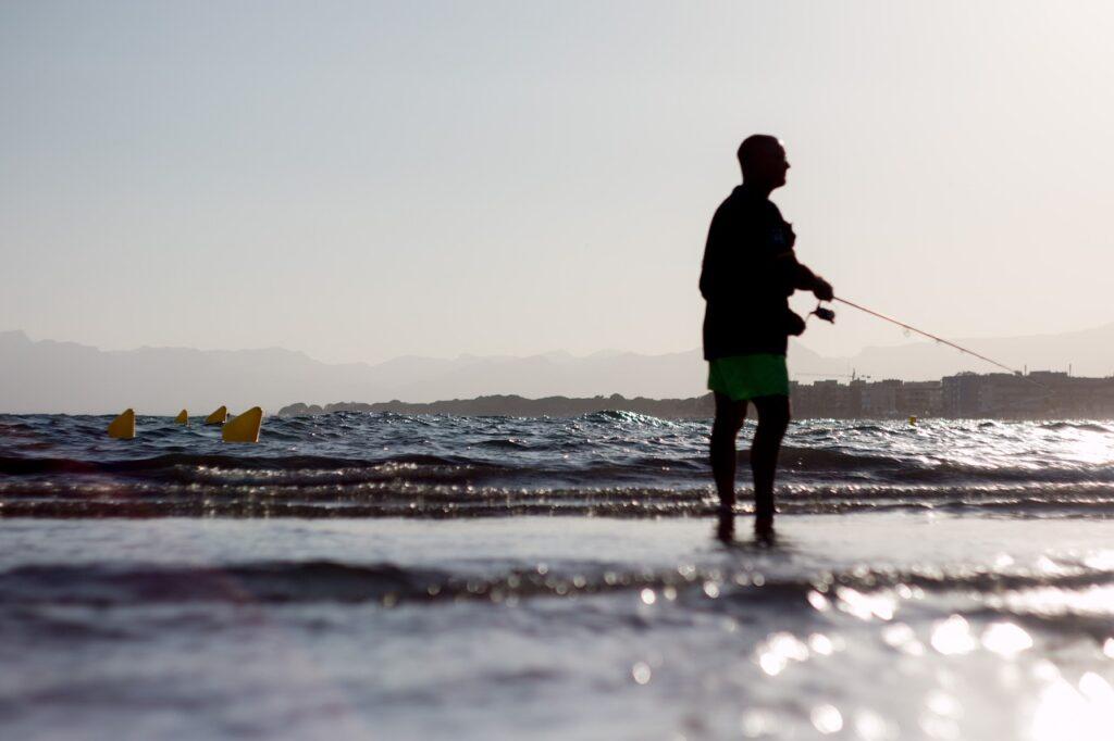 Man Fishing Beach Silhouette  - Estebanescu / Pixabay