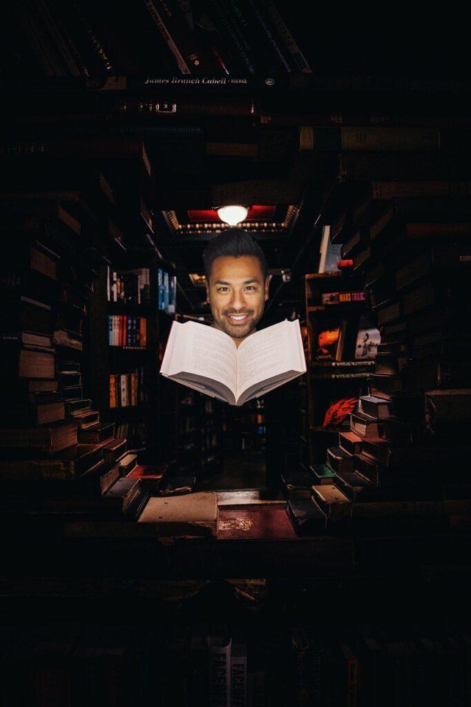 Man Library Fantasy Book Face  - jonathang1995 / Pixabay