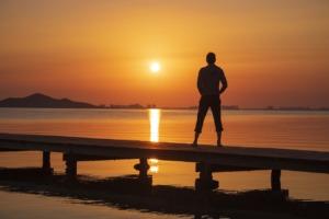 Man Ocean Sea Beach Alone Lonely  - Leolo212 / Pixabay