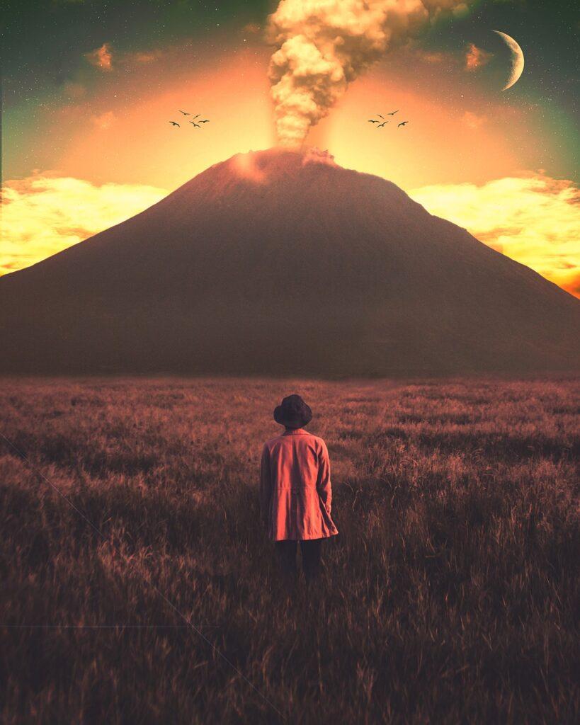 Man Volcanic Eruption  - mdsarfraz / Pixabay