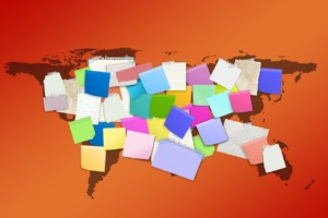 Map Of The World Memos Sticky Notes  - geralt / Pixabay
