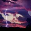 Moon Storm Lightning Night Sky  - justieklein / Pixabay