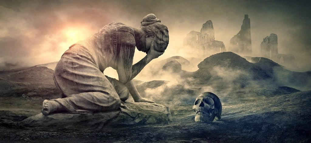 Mourning Woman Cry Destruction  - KELLEPICS / Pixabay