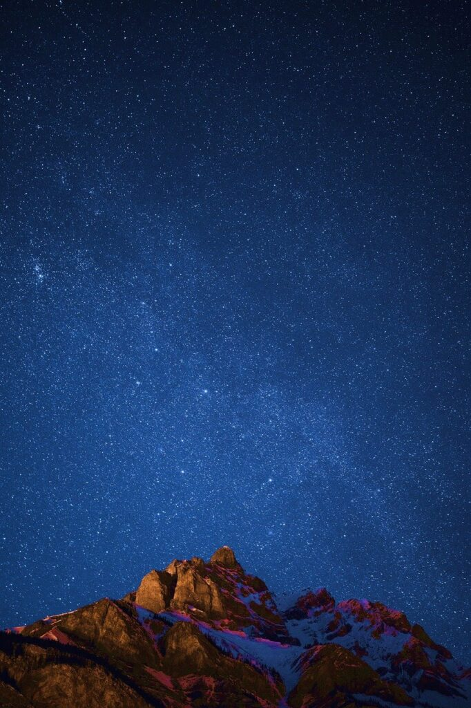 Night Sky Stars Mountains Starry  - theanandthakur / Pixabay